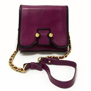 Botkier Lucy Purple Leather Crossbody Bag